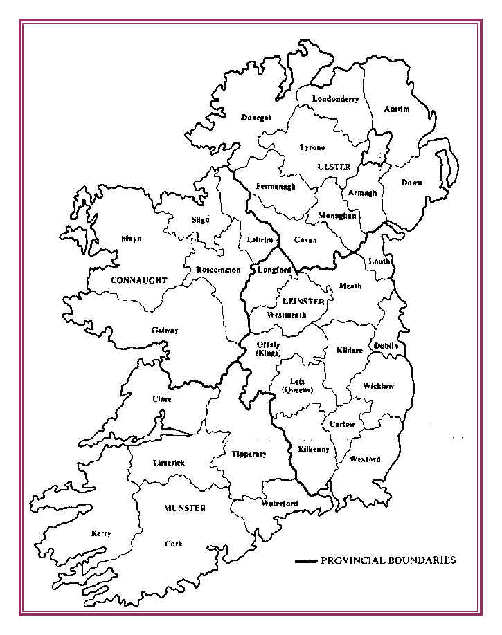 Map Of Ireland Provinces And Counties.Ireland Map